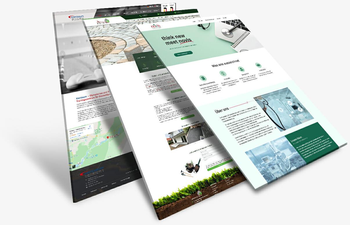 Mockup unserer Projekte als Agentur für Webdesign Wernigerode