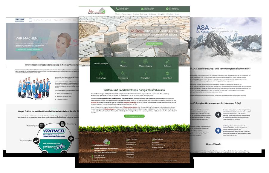Referenzen von Webdesign Potsdam